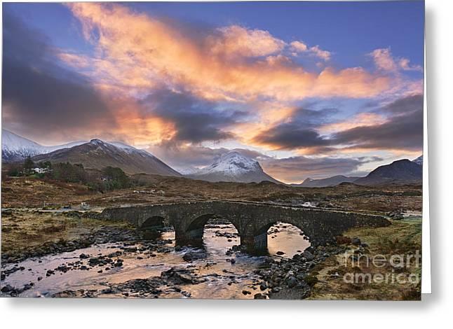Western Isles Greeting Cards - Sligachan Dawn Greeting Card by Rod McLean
