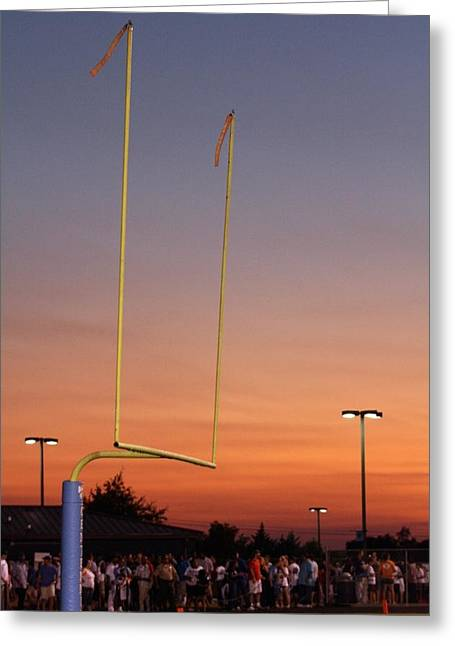 Franklin Tn Greeting Cards - Slight Breeze in the End Zone Greeting Card by Troy Johns