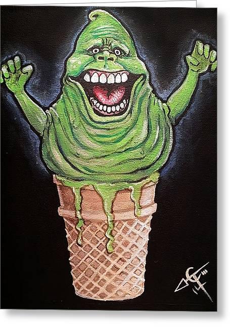 Slimer Cone Greeting Card by Tom Carlton