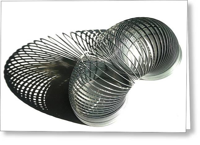 Fad Greeting Cards - Slinky Greeting Card by Art Block Collections