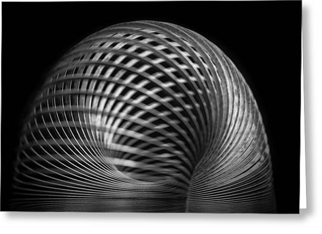 Harmonic Motions Greeting Cards - Slinky Greeting Card by Larry Helms