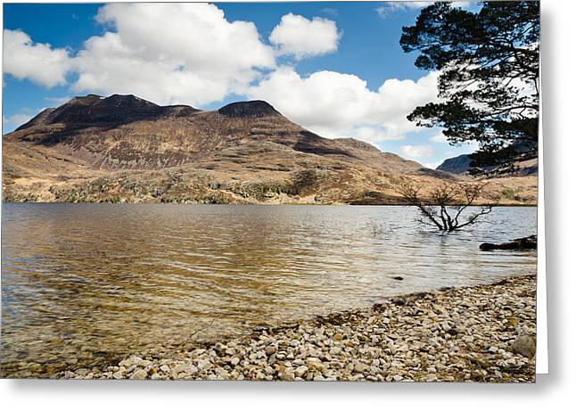 Slioch Greeting Cards - Slioch and Loch Maree Greeting Card by David Head