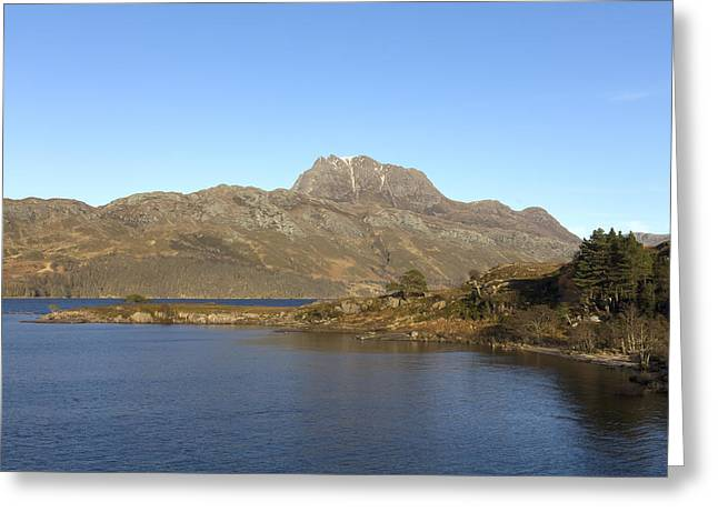 Slioch Greeting Cards - Slioch and Loch Maree Wester Ross Scotland Greeting Card by Derek Beattie