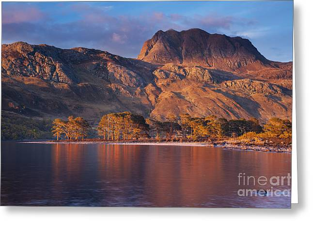 Slioch Greeting Cards - Slioch from Loch Maree Scotland Greeting Card by Justin Foulkes