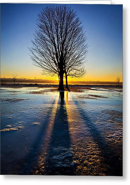 Geographic Greeting Cards - Slip Sliding Away Greeting Card by Phil Koch