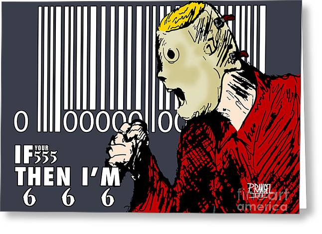 Slipknot Greeting Cards - Slipknot Series Corey Taylor Greeting Card by Phillip Rangel