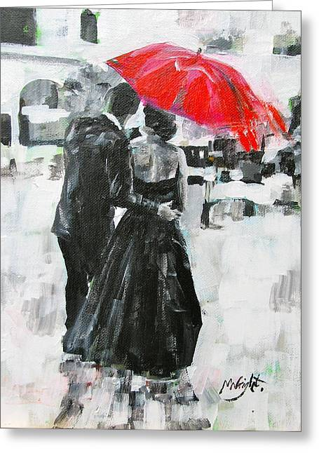 Black Tie Paintings Greeting Cards - Slipped Away Greeting Card by Molly Wright