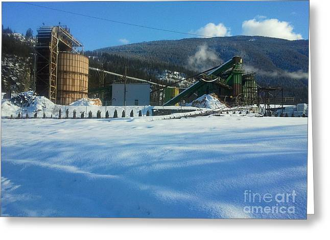 Mill Printing Greeting Cards - Slocan Mill Greeting Card by Graham Foulkes