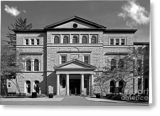 Liberal Greeting Cards - Slocum Library Ohio Wesleyan University Greeting Card by University Icons