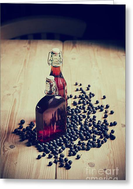 Harvest Art Greeting Cards - Sloe Gin Greeting Card by Tim Gainey