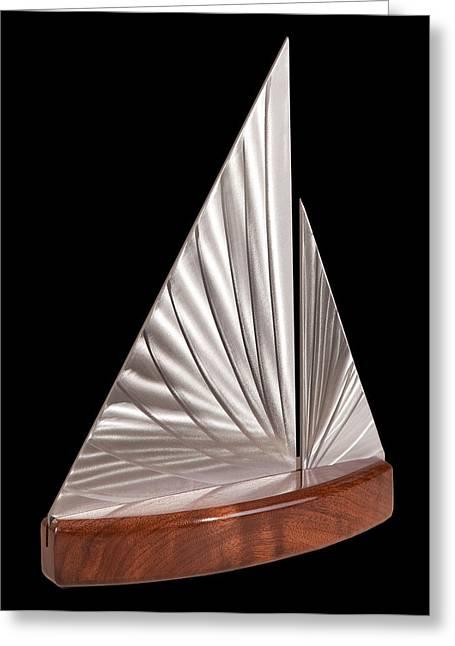 Sailing Boat Sculptures Greeting Cards - Sloop II Greeting Card by Rick Roth