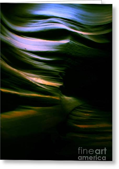 Aidan Moran Photography Greeting Cards - Slot Canyon Wave - Canyon Abstract Greeting Card by Aidan Moran