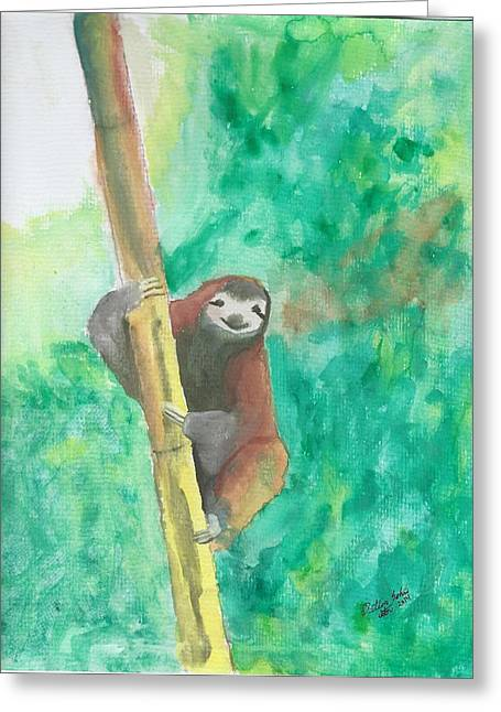 Sloth Love Greeting Card by Dalton Sexton