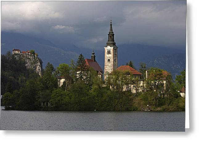 Bled Greeting Cards - Slovenia, Bled, Lake Bled, Bled Island Greeting Card by Tips Images