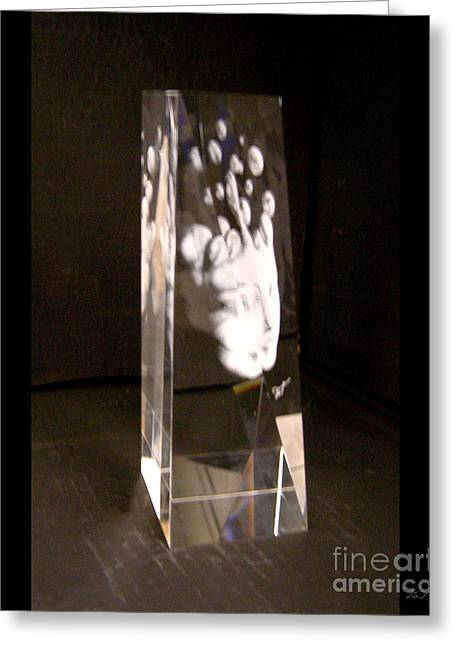 Loss Glass Art Greeting Cards - Slow Boil Crystal Sculpture 6 Greeting Card by Dia T