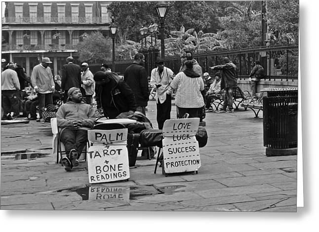 Gypsy Band Greeting Cards - Slow Day on Jackson Square in New Orleans Greeting Card by Louis Maistros
