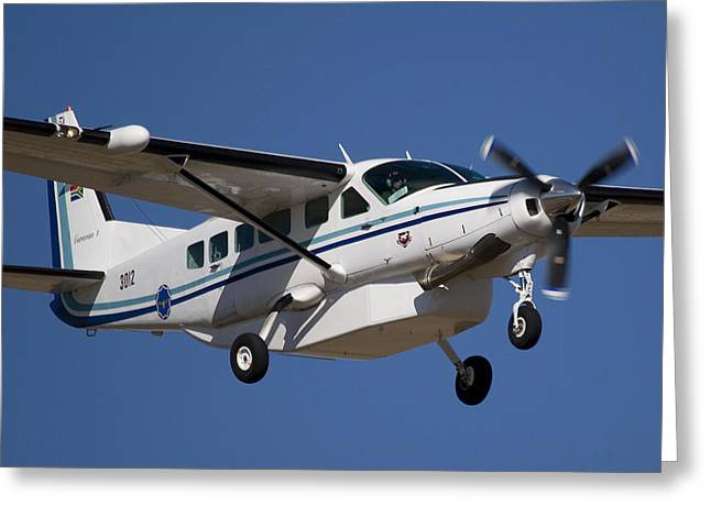Cessna Greeting Cards - Slow Flying Greeting Card by Paul Job