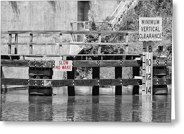 Ocaen Greeting Cards - Slow No wake Greeting Card by Earl Ball