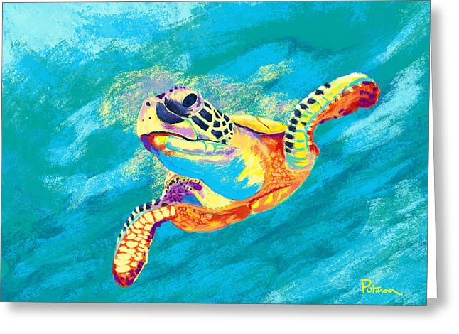Sea Life Greeting Cards - Slow Ride Greeting Card by Kevin Putman