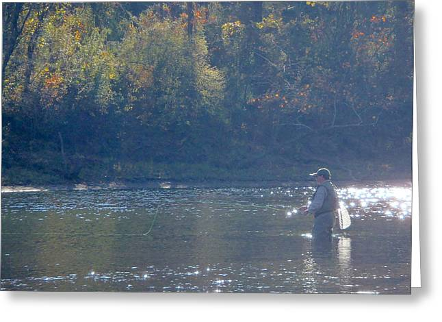 Heber Springs Greeting Cards - Slow River Greeting Card by Phil Rispin