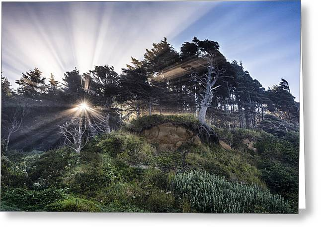 Art In Acrylic Greeting Cards - Slow the Light Greeting Card by Jon Glaser