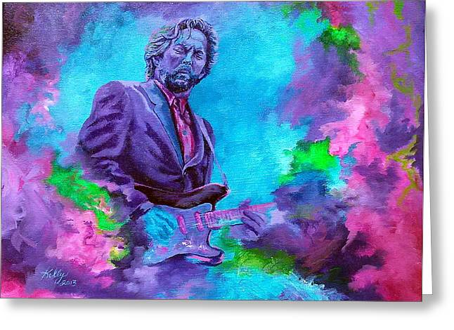 Eric Clapton Portrait Greeting Cards - Slowhand Greeting Card by Kathleen Kelly Thompson