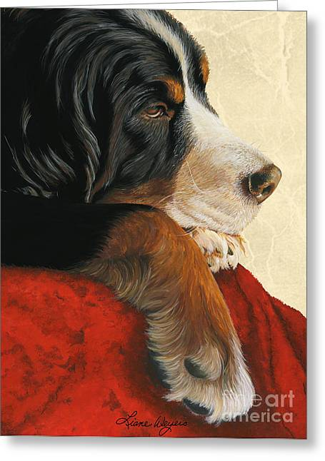 Dog Artists Greeting Cards - Slumber Greeting Card by Liane Weyers
