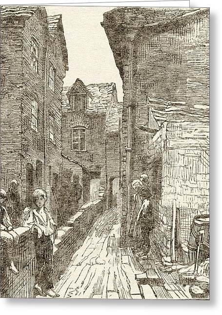 Sociology Greeting Cards - Slums In Birmingham, 1870s Greeting Card by British Library