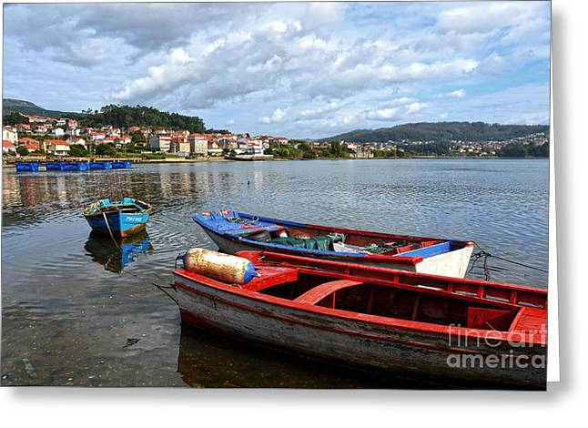 Galicia Greeting Cards - Small boats in Galicia Greeting Card by RicardMN Photography