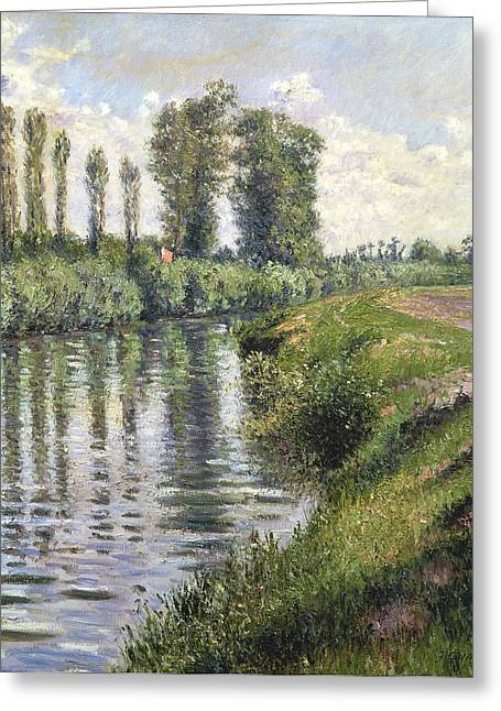 River Paintings Greeting Cards - Small Branch of the Seine at Argenteuil Greeting Card by Gustave Caillebotte