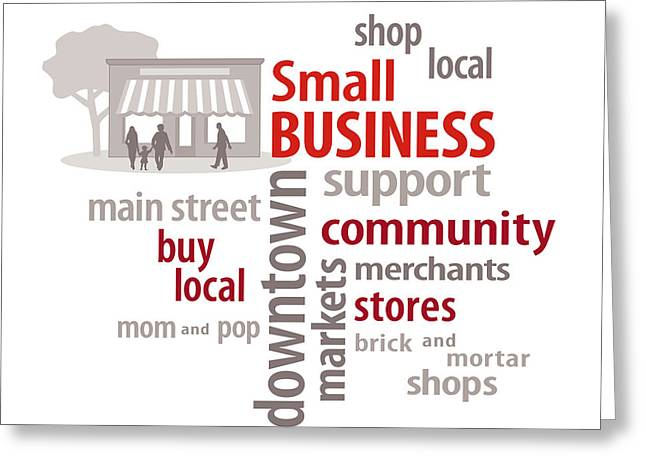 Buy Local Greeting Cards - Small Business Greeting Card by J M Designs
