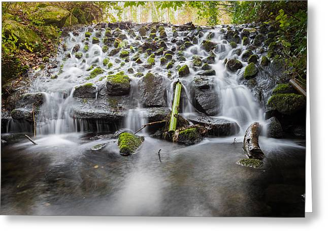Pouring Greeting Cards - Small Cascade in Marlay Park Greeting Card by Semmick Photo