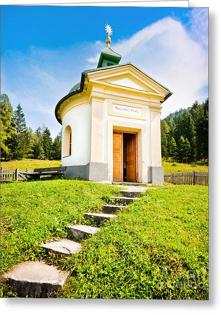 Oratory Greeting Cards - Small chapel in Austria Greeting Card by JR Photography