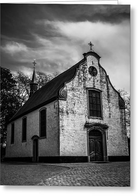 French Door Greeting Cards - Small Church Greeting Card by Wim Lanclus