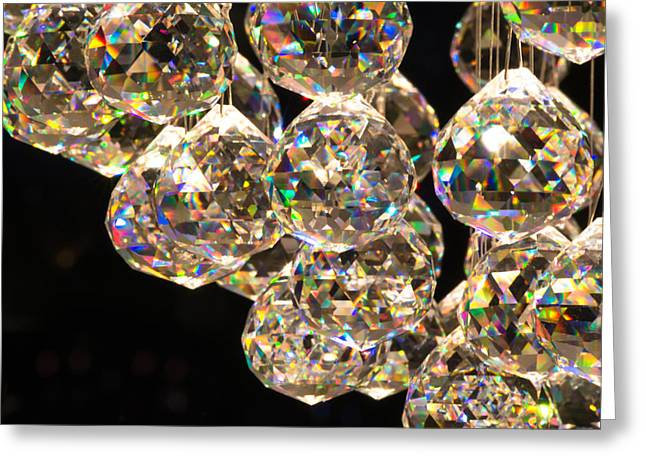 Carat Photographs Greeting Cards - Small Cut Glass Spheres Greeting Card by Chay Bewley