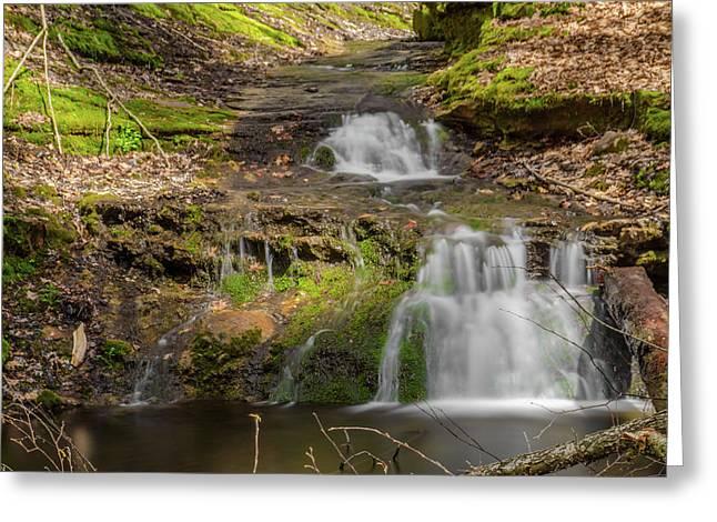 Small Falls At Parfrey's Glen Greeting Card by Jonah  Anderson