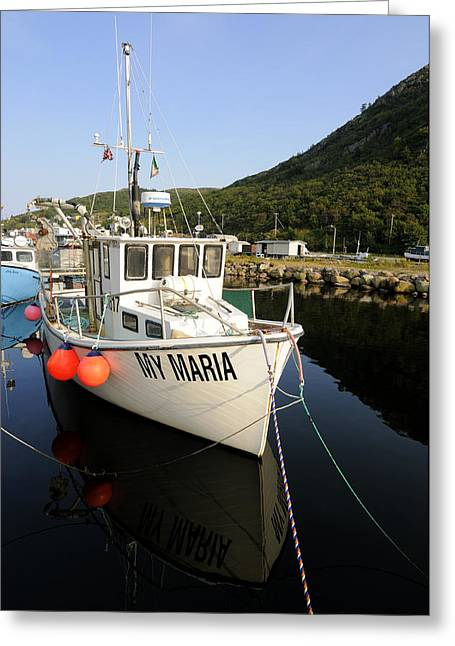 My Ocean Greeting Cards - Small Fishing Boat Greeting Card by Norman Pogson