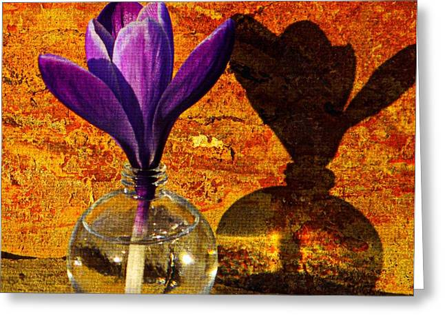 Glass Vase Greeting Cards - Small Giant Greeting Card by Chris Berry