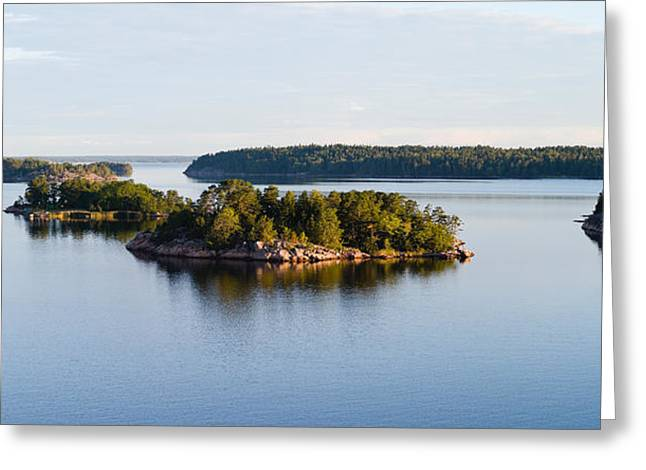 Baltic Sea Greeting Cards - Small Islands In The Sea, Stockholm Greeting Card by Panoramic Images