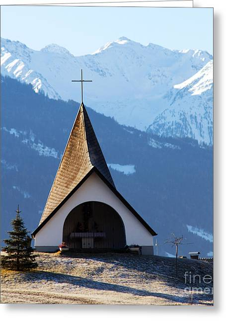 Snowy Day Greeting Cards - Small shrine in the mountains Greeting Card by Michal Bednarek