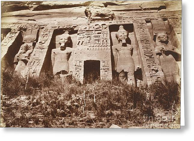 Pharaoh Greeting Cards - Small Temple At Abu Simbel, Egypt, 1850s Greeting Card by British Library