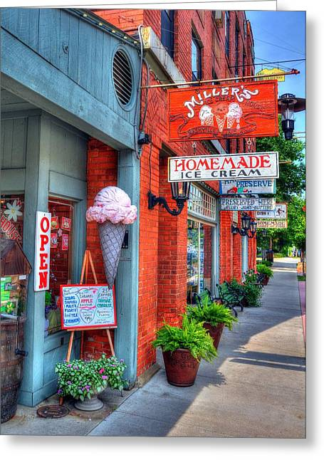 Indiana Scenes Greeting Cards - Small Town America 2 Greeting Card by Mel Steinhauer