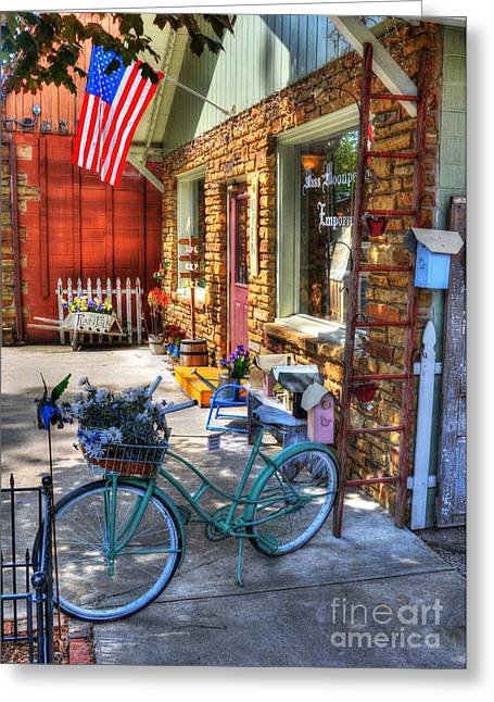 Indiana Scenes Greeting Cards - Small Town America Greeting Card by Mel Steinhauer