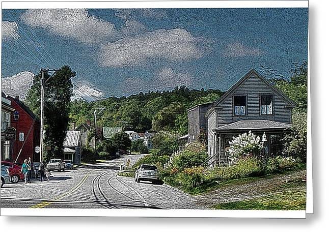 Old Roadway Greeting Cards - Small Town Mount Vernon Maine ...#4 Greeting Card by Joy Nichols