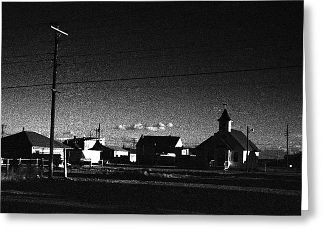 Small Town Usa Greeting Cards - Small Town USA Big Piney Wyoming Greeting Card by Donald  Erickson