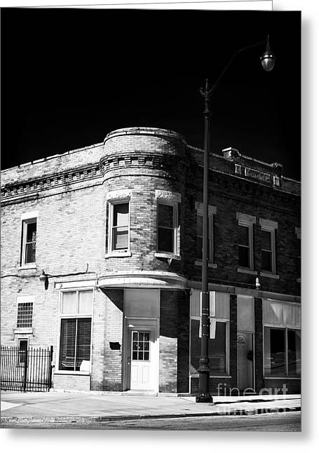 Small Town Prints Greeting Cards - Small Town USA Greeting Card by John Rizzuto
