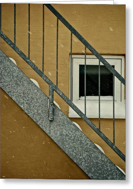 Galvanize Photographs Greeting Cards - Small Window Greeting Card by Odd Jeppesen