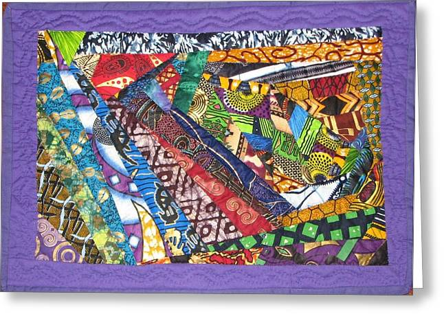Print Tapestries - Textiles Greeting Cards - Small Wonder Greeting Card by Aisha Lumumba
