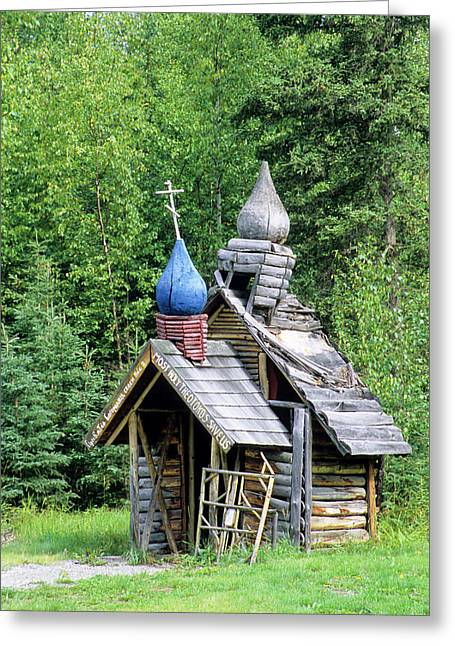 Small Wooden Chapel At Saint Nicholas Greeting Card by Angel Wynn