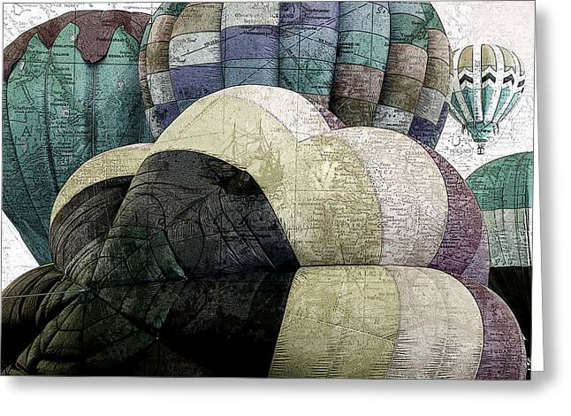 Hot Mixed Media Greeting Cards - Small World Greeting Card by Bonnie Bruno